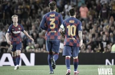 Leo Messi y Gerard Piqué en el Camp Nou 2019-2020| FOTO: Noelia Déniz- VAVEL