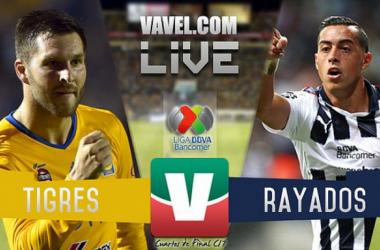 Resultado y goles del Monterrey 0-2 Tigres de los Cuartos de Final de la Liga MX Clausura 2017