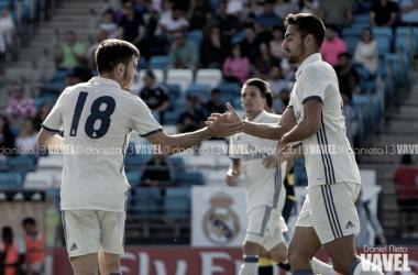 Los jugadores del Castilla celebrando un gol. Fuente: Vavel.com