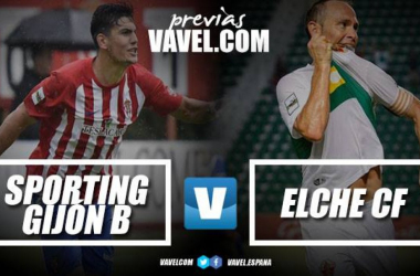 Previa Sporting B - Elche CF: todo pasa por Mareo. | Fotomontaje: Maidel-VAVEL.