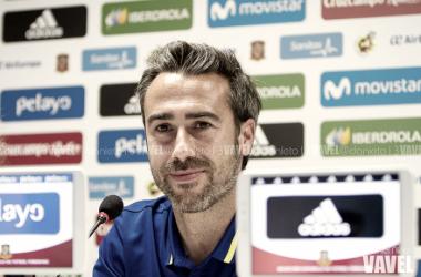 Jorge Vilda en rueda de prensa | Foto: Daniel Nieto - VAVEL