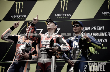 El podio del GP de Catalunya. Foto: Noelia Déniz - VAVEL