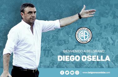 Diego Osella es el nuevo entrenador de Belgrano. / Foto: BelgranodeCórdoba Oficial