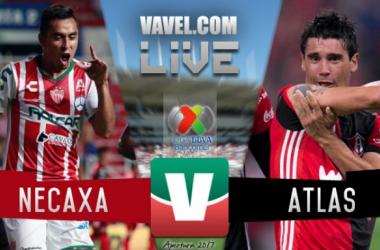 Resultado y goles del Necaxa vs Atlas en Liga MX 2017 (2-1)