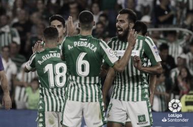 Borja Iglesias celebrando | Fotografía: La Liga