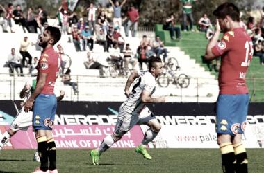 Palestino vs Unión Española que le quitó el invicto en el torneo de Transición. (Fotografía: Agencia Uno)