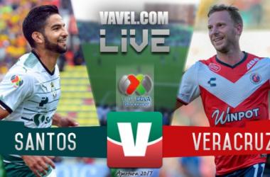 Resultado y goles del Santos 2-3 Veracruz de la Liga MX 2017