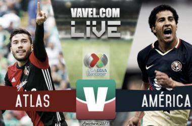 Resultado y goles del Atlas 0-1 América en la Liga MX 2017