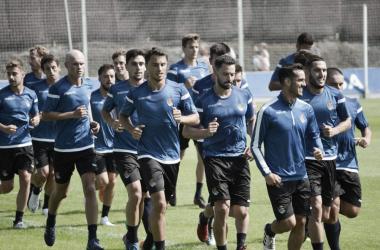 Jugadores de la Real entrenando. | Foto: Gio Batista