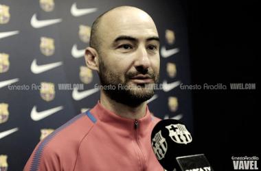 Fran Sánchez atendió a los medios en la Ciudad Deportiva Joan Gamper.   Foto: Ernesto Ardilla, VAVEL