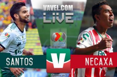 Resultado y goles del Santos 3-2 Necaxa de la Liga MX 2017