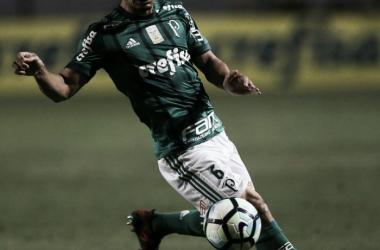 Egídio no jogo contra seu ex-time, Cruzeiro (foto: Divulgação/ SE Palmeiras)