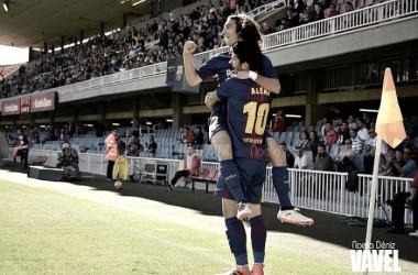 Carles Aleñá y Marc Cucurella celebrando un gol. Foto: Noelia Déniz, VAVEL.com