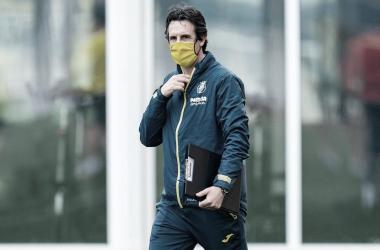 """<p class=""""MsoNormal"""">Emery durante el entrenamiento / Foto: Villarreal C.F<o:p></o:p></p>"""
