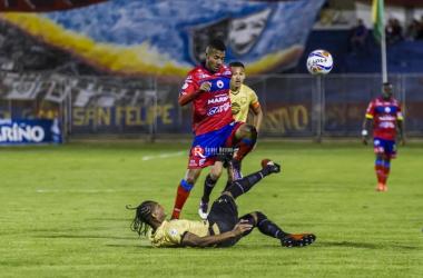 Éderson Moreno en derrota de Pasto frente a Águilas. Foto: Quique Rosero.