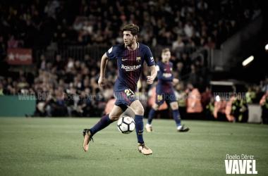 Sergi Roberto premiado por primera vez como mejor jugador catalán de la temporada | Foto: Noelia Déniz - VAVEL