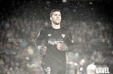 David Soria durante el partido ante el Barça en el Camp Nou / Foto: Noelia Déniz (VAVEL)