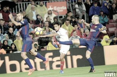 El Barça-Sevilla en el Camp Nou | Foto de Ernesto Aradilla, VAVEL