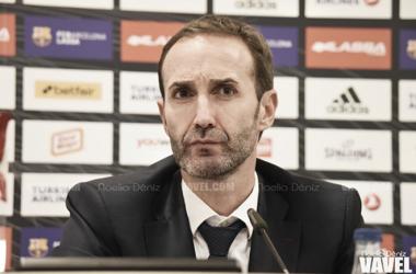 Sito Alonso se mostró satisfecho con el rendimiento del equipo tras el encuentro. | Fotografía: Noelia Déniz (VAVEL.com)