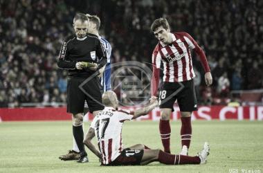 Mikel Rico y Córdoba en el partido ante la Real Sociedad | Fotografía: UGS Vision