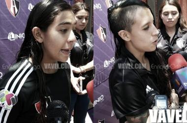 Zellyka Arce (izquierda), Fabiola Ibarra (derecha) | Foto: Enrique Ortega / VAVEL