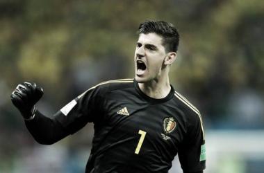 Courtois celebra un gol durante el Mundial | Foto: FIFA.com
