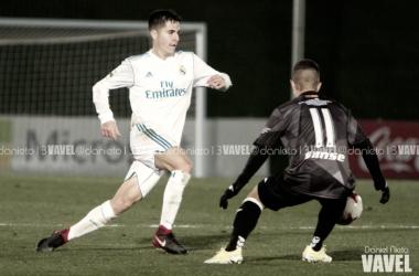 Álvaro Tejero durante un partido | Fotografía: Daniel Nieto