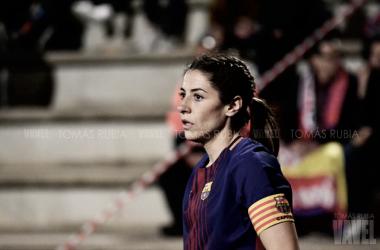 Vicky Losada en el partido frente al Atlético de Madrid. Foto: Tomás Rubia, VAVEL.com