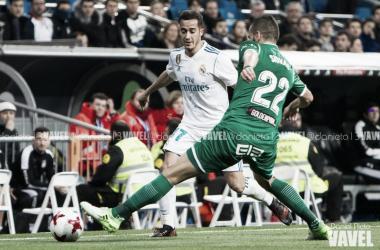Lucas Vázquez en un partido con el Real Madrid/ Foto: Daniel Nieto (Vavel)