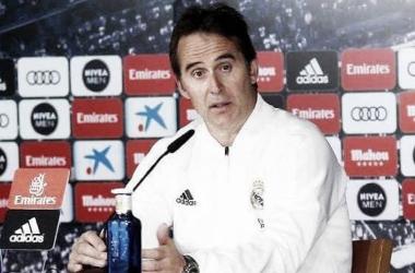 Julen Lopetegui en una rueda de prensa | Foto: Real Madrid