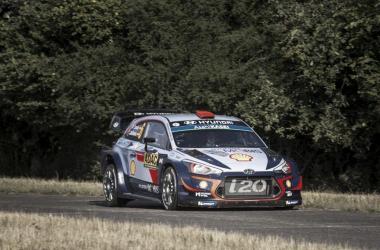 Sordo y Del Barrio en el Rallye de Alemania | Foto: Hyundai Motorsport