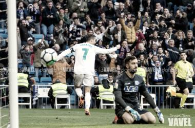 Cristiano, elegido mejor jugador ante el Alavés