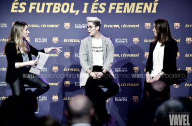 El Barça Femenino, protagonista en el 8M . FOTO: Beto Fotógrafo