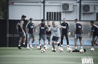 Entrenamiento de los jugadores disponibles del primer equipo | Foto de Noelia Déniz, VAVEL