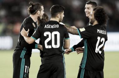 Celebración en el gol de Bale | Foto: Real Madrid