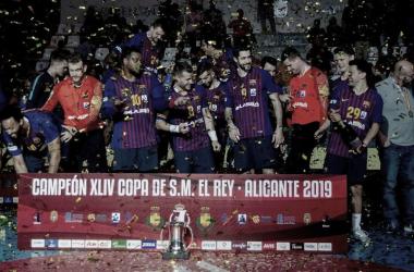 El FC Barcelona Lassa se proclama campeón de la XLIV Copa del Rey. Foto: Hugo Izquierdo