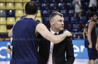 Jasikevicius en el último partido en el Palau. Foto: Noelia Déniz