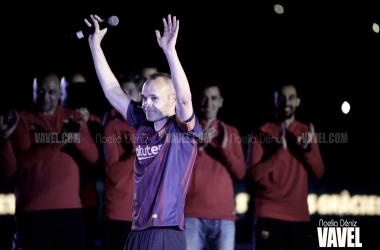 Andrés Iniesta en su despedida con el Fútbol Club Barcelona en el Camp Nou | Foto de Noelia Déniz, VAVEL