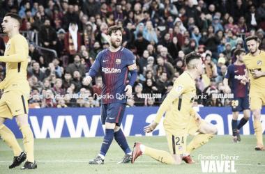600 vezes Messi: argentino decide, Barcelona bate Atlético de Madrid e dispara na liderança