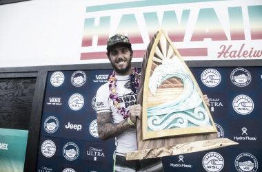 Filipinho venceu a etapa Hawaiian Pro em 2017 (Foto: Keoki Saguibo/WSL)