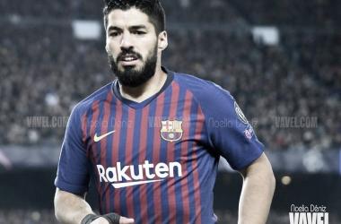 Luis Suárez ante el Manchester United en Champions | Fuente: Noelia Déniz (VAVEL)