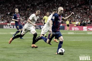 Andrés Iniesta en la jugada de su gol en la final de la Copa del Rey | Foto de Daniel Nieto, VAVEL