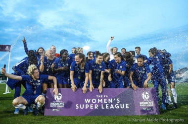 Chelsea celebrate their title win | Photo: Kunjan Malde Photography