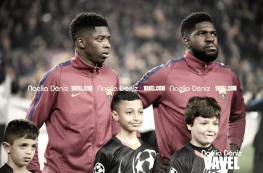 Ousmane Dembélé y Samuel Umtiti con el Fútbol Club Barcelona | Foto de Noelia Déniz, VAVEL