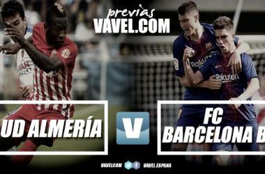 Previa UD Almería-Barcelona B: duelo de urgencias