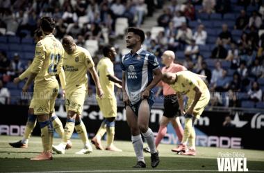 Melendo se lamenta de una ocasión fallida contra Las Palmas / Foto: Noelia Déniz (VAVEL).