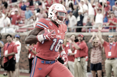 "Courtland Sutton, un ""mini Calvin Johnson"" (Foto: SMU Mustangs)."