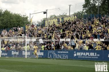 Celebración de uno de los goles del Alcorcón | Fotografía: Jon Imanol Reino