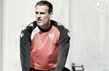 Antonio Amaya en un entrenamiento. Foto: Rayo Vallecano S.A.D.