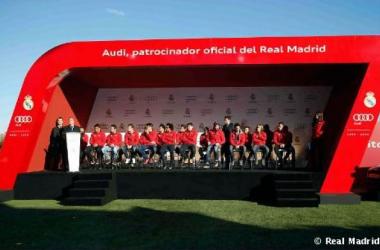 El Real Madrid en el acto publicitario de Audi | Foto: www.realmadrid.com